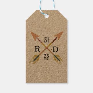 Rustic & Bohemian | Crossed Arrow | Custom Wedding Gift Tags