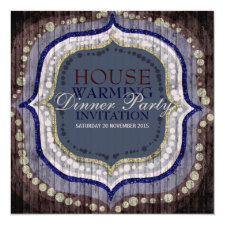 Rustic Bohemian New Home Dinner Party Invitation