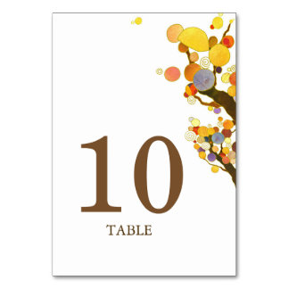 Rustic Bohemian Trees Wedding Table Number
