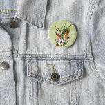 "Rustic boho ""boutonniere"" button"