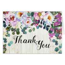 Rustic Boho Chic Peonies Floral Thank You