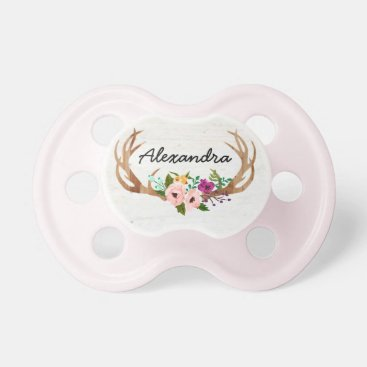 Toddler & Baby themed Rustic Boho Custom Name Pacifier