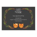 Rustic Boho Forest Cats Wedding Invitation