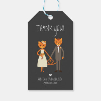 Rustic Boho Forest Cats Wedding Invitation Gift Tags