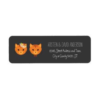 Rustic Boho Forest Cats Wedding Invitation Label