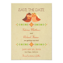 Rustic Boho Lovebird Owl Couple Wedding Card