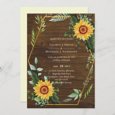 Rustic BOHO Sunflowers Greenery Wedding