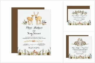 Rustic Boho Woodland Animal Wedding Suite