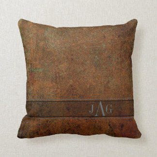 Rustic Book Cover Cushion In Classic Brown