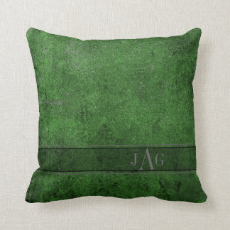 Rustic Book Cover Cushion In Emerald Green