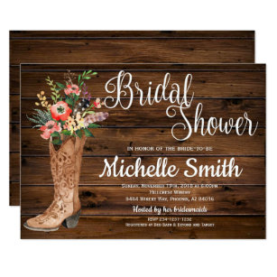 Country Bridal Shower Invitations Announcements Zazzle