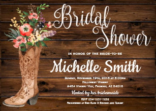 861ff441975 Rustic Boot Country Bridal Western Bridal Shower Invitation