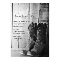 Rustic Boots Country and Western General Party Invitation