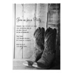 Rustic Boots Country General Party Invitation