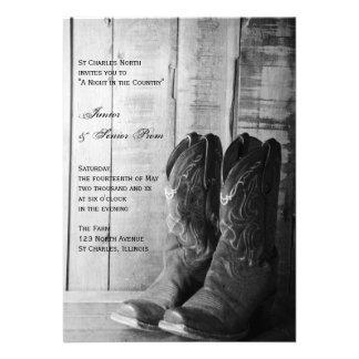 Rustic Boots Country Junior Senior Prom Invite