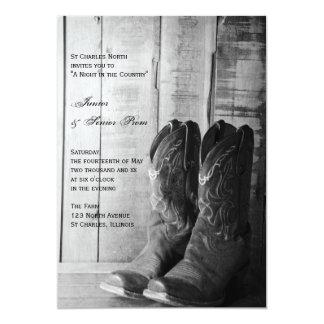 Rustic Boots Country Junior / Senior Prom Invite