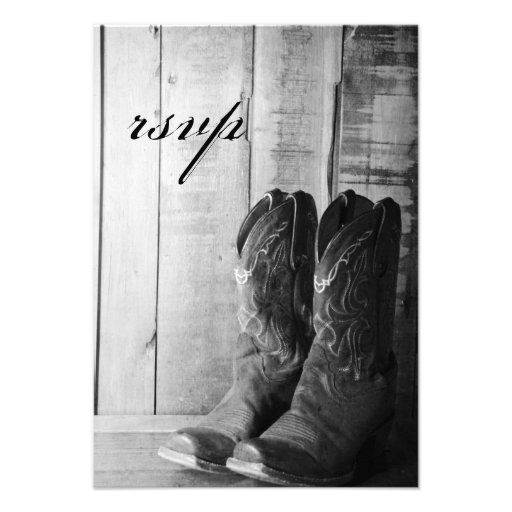 Rustic Boots Country Wedding Response Card