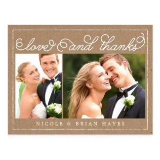 Rustic Border Wedding Thank You Card - Craft