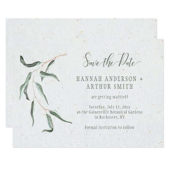 Rustic Botanical Save The Date Invitations |