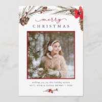 Rustic Bough | Holiday Photo Card
