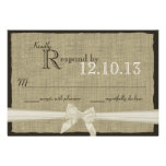 Rustic Bow and Burlap Wedding Response Invitations