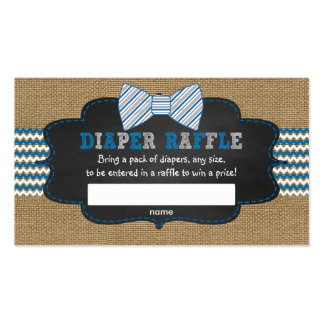 Rustic Bow Tie boy baby shower raffle ticket Business Card