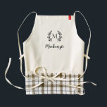 "Rustic Branch Monogram Apron<br><div class=""desc"">Stylish apron personalized with your monogram initial in a rustic wreath frame. Customize It to add your own text and create a unique one of a kind gift for newlyweds or housewarming.</div>"