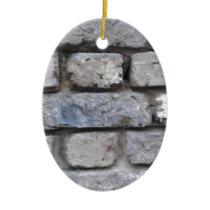 Rustic brick stone wall ceramic ornament