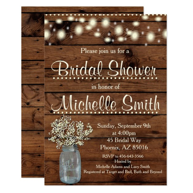 rustic bridal shower invitations & announcements | zazzle, Baby shower invitations