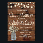 "Rustic Bridal Shower Invitation, Mason Jar, Floral Card<br><div class=""desc"">Great rustic invitation for that special day!!!</div>"