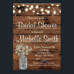 "Rustic Bridal Shower Invitation, Mason Jar, Floral Invitation<br><div class=""desc"">Great rustic invitation for that special day!!!</div>"