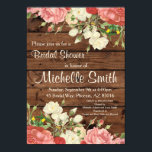 """Rustic Bridal Shower Invite, Flower, Floral, Boho Card<br><div class=""""desc"""">Great rustic invitation for that special day!!!</div>"""