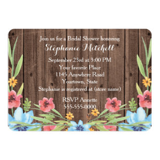 Rustic Bridal Shower with Posies Card