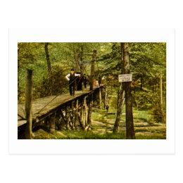Rustic Bridge Eastman Springs Benton Harbor Mi Postcard