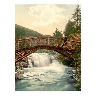 Rustic Bridge in Glenariff. Co. Antrim, Ireland Postcard