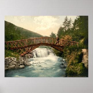 Rustic Bridge in Glenariff. Co. Antrim, Ireland Posters