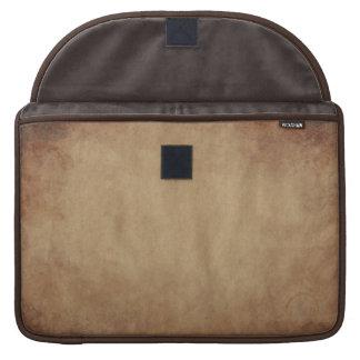 Rustic Brown Abstract Art MacBook Sleeve