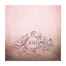 Rustic Brown and Pink Bohemian Guest Book Canvas