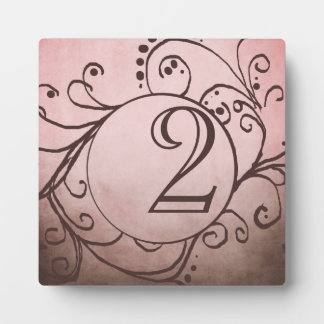 Rustic Brown and Pink Bohemian Table Number Display Plaques