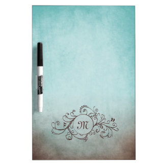 Rustic Brown and Teal Bohemian  Flourish Dry-Erase Whiteboard