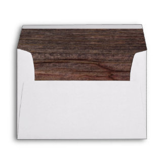 Rustic Brown Country Barn Wood Envelope