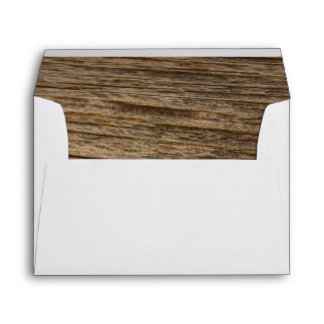 Rustic Brown Country Barn Wood Envelope