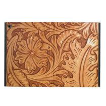 Rustic brown cowboy fashion western leather powis iPad air 2 case