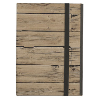Rustic Brown Faux Wood iPad Air Cases