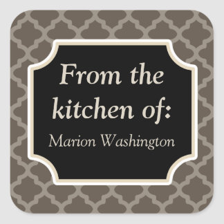 Rustic Brown Kitchen Gift Tags Stickers