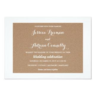 Rustic Brown Kraft Paper Country Wedding Card