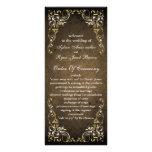 rustic brown regal  wedding program custom rack cards