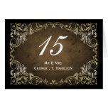 rustic brown regal wedding table seating card