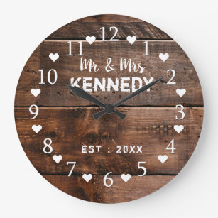 Weathered Wood Wall Clocks Zazzle
