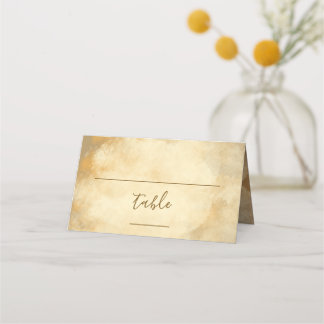 Rustic Brown Wedding Reception Place Card